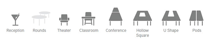 Welcome Center Conference Room Icons