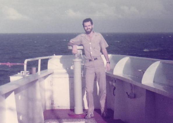 ​ Jim Maloney on a merchant ship in the early 1980