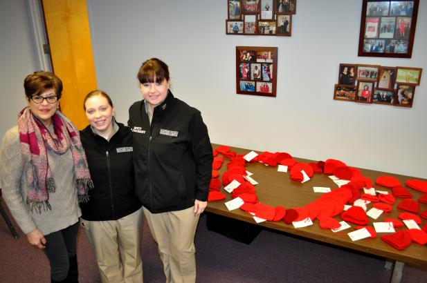 Donated hats for the American Heart Association